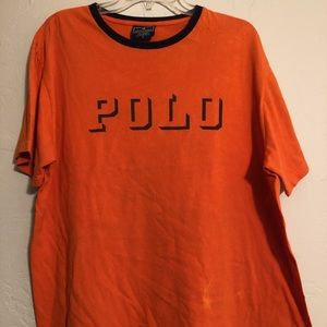 Vintage Polo Sport - Huge Spell Out T Shirt